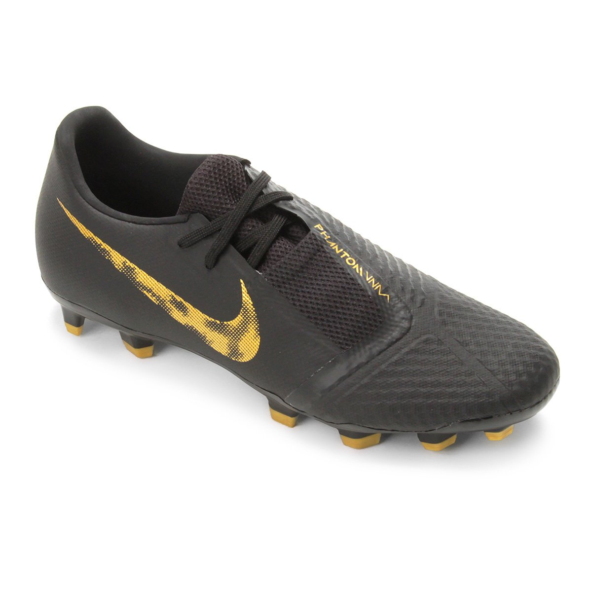 b39429321e Chuteira Campo Nike Phantom Venom Academy FG - Preto e Dourado ...