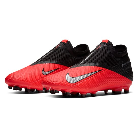 Chuteira Campo Nike Phantom Vision 2 Academy DF FG - Vermelho+Prata