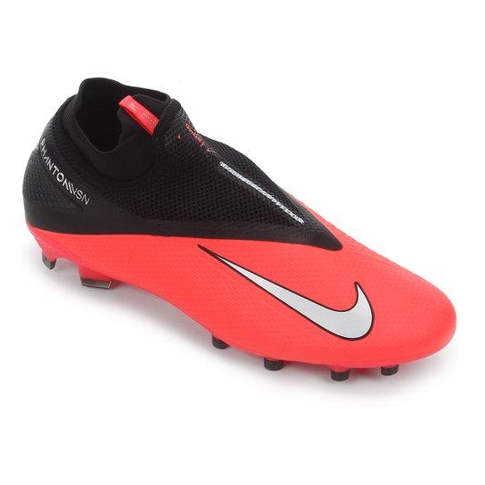 Chuteira Campo Nike Phantom Vision 2 Pro DF FG - Vermelho+Prata