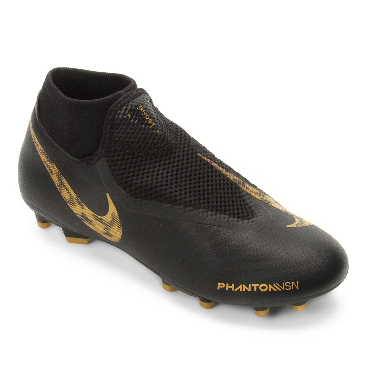 7ad9156178ed9 Chuteira Campo Nike Phantom Vision Academy DF FG - Preto e Dourado | Shop  Timão