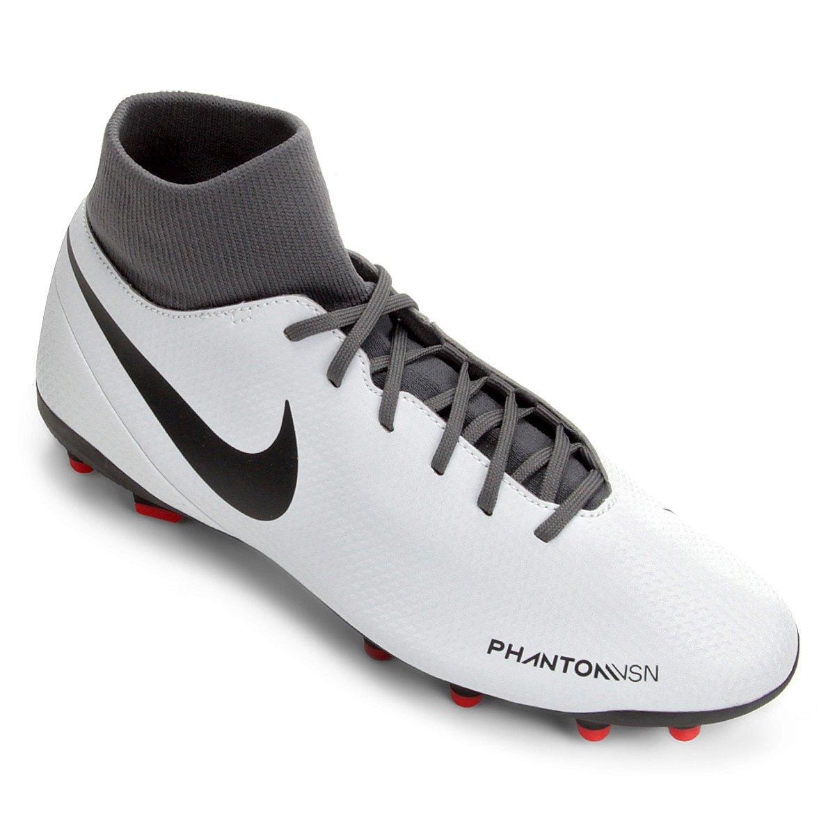 Chuteira Campo Nike Phantom Vision Club FG - Cinza - Compre Agora ... 19d534822a01c