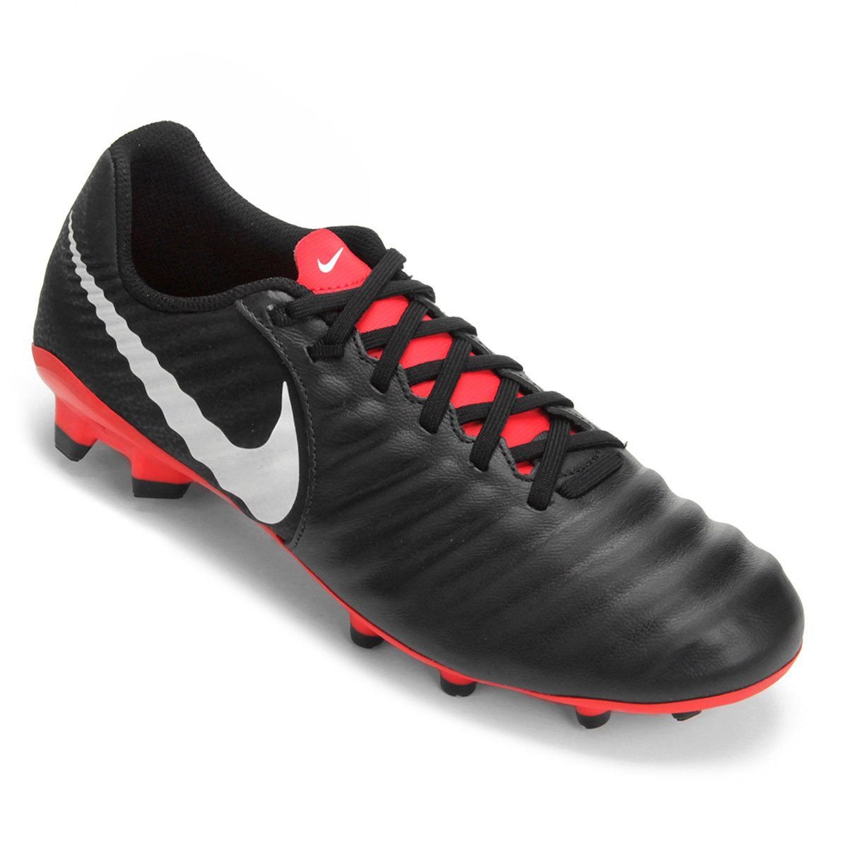 0fb19d83cd512 Chuteira Campo Nike Tiempo Legend 7 Academy FG - Preto - Compre Agora