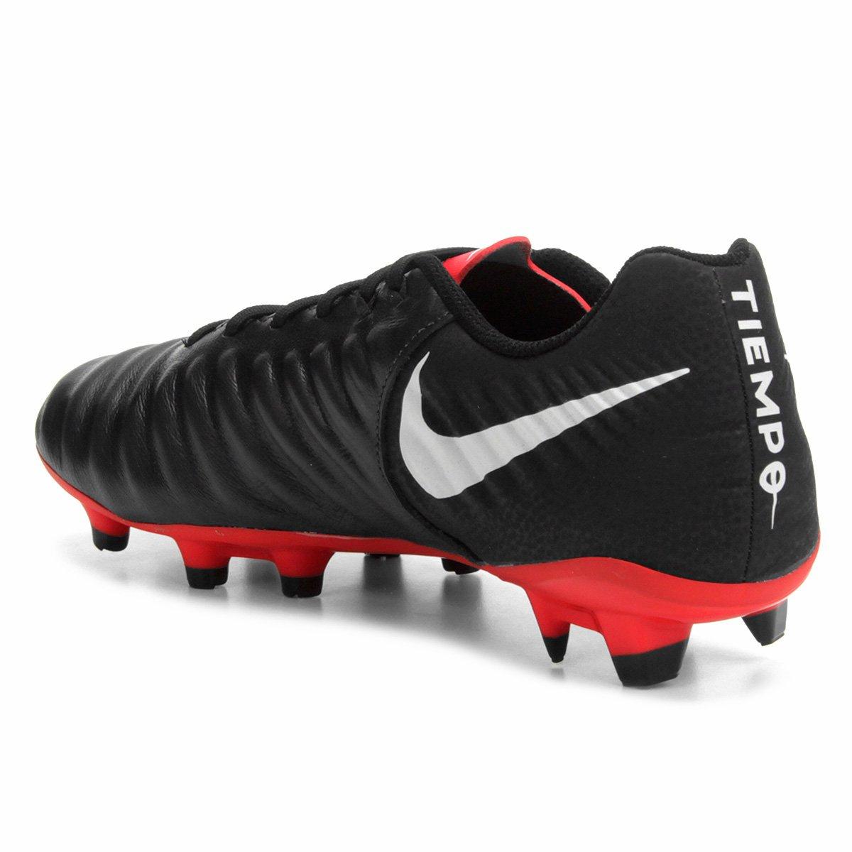 Chuteira Campo Nike Tiempo Legend 7 Academy FG - Preto - Compre ... e7335923a12c6