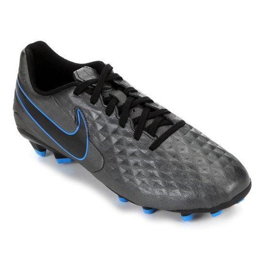 Chuteira Campo Nike Tiempo Legend 8 Academy - Preto+Azul