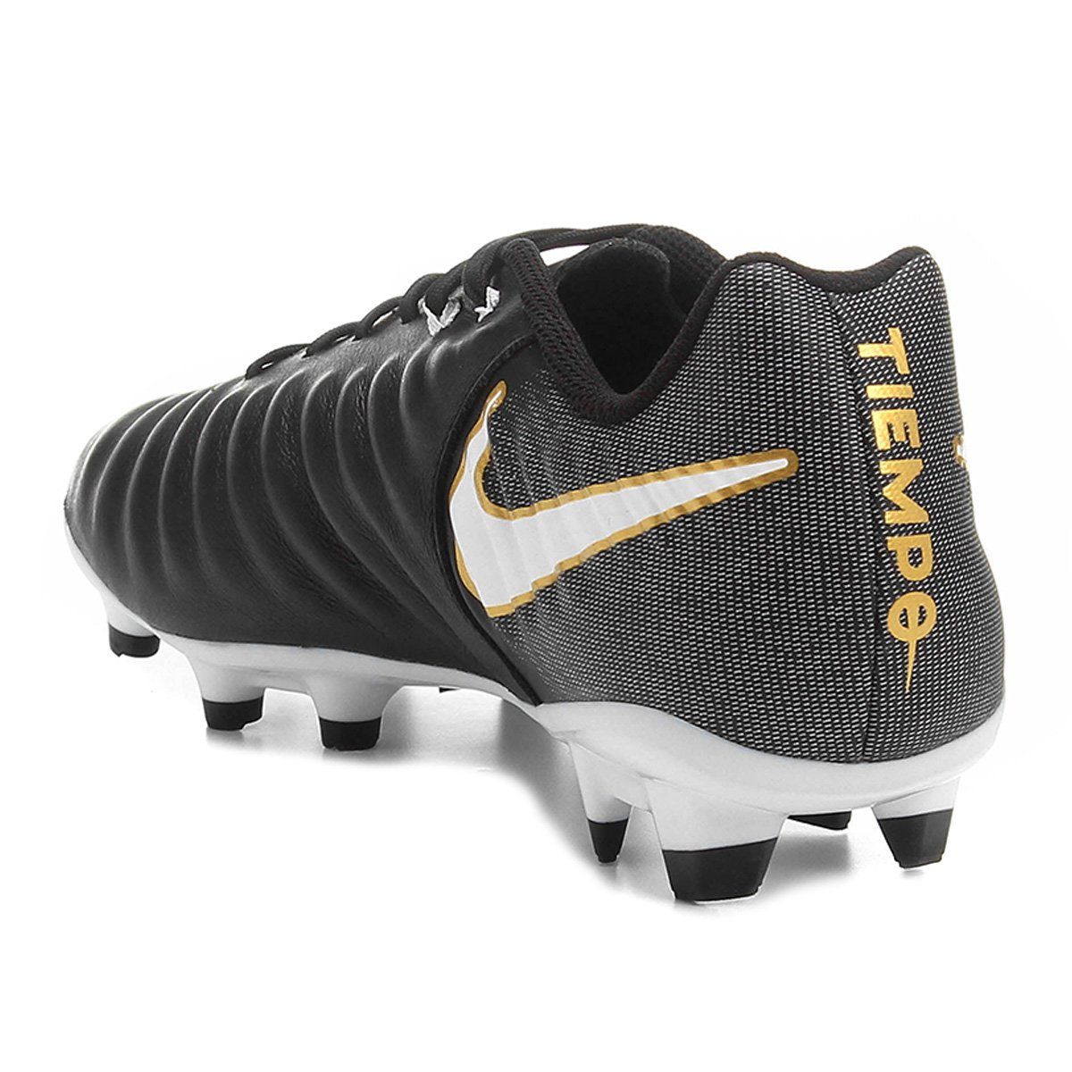 a4a84a3825 Chuteira Campo Nike Tiempo Ligera 4 FG - Preto e Branco - Compre ...