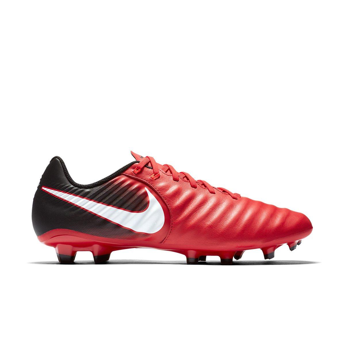 5918cf80e6 Chuteira Campo Nike Tiempo Ligera 4 FG - Vermelho e Branco - Compre ...