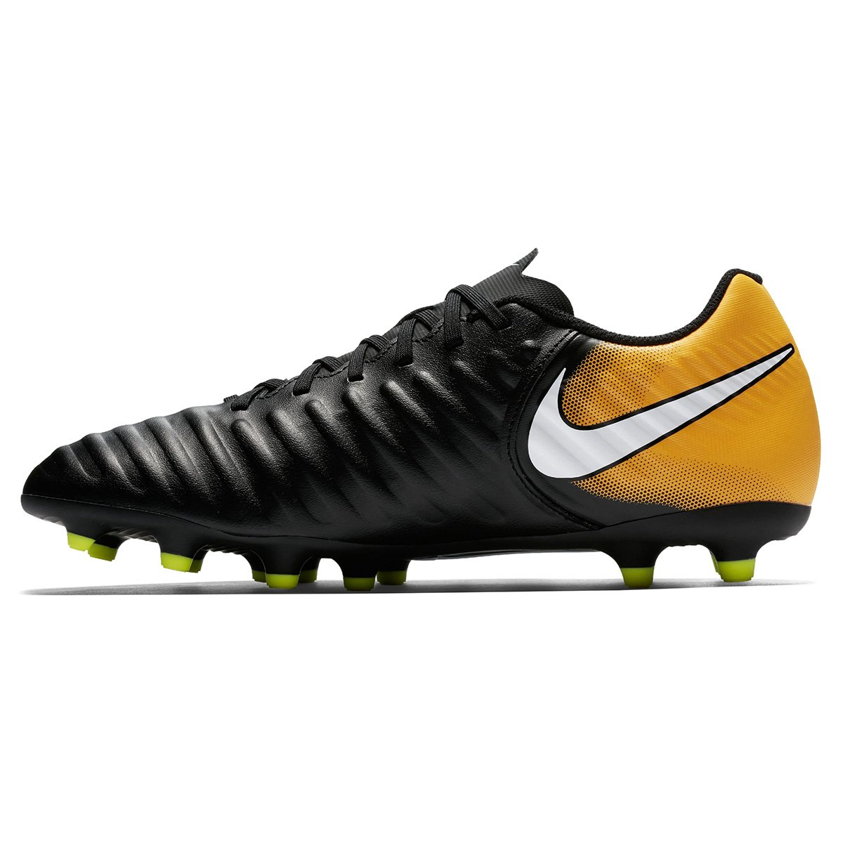 Chuteira Campo Nike Tiempo Rio 4 FG - Preto e Laranja - Compre Agora ... e8303871ae348