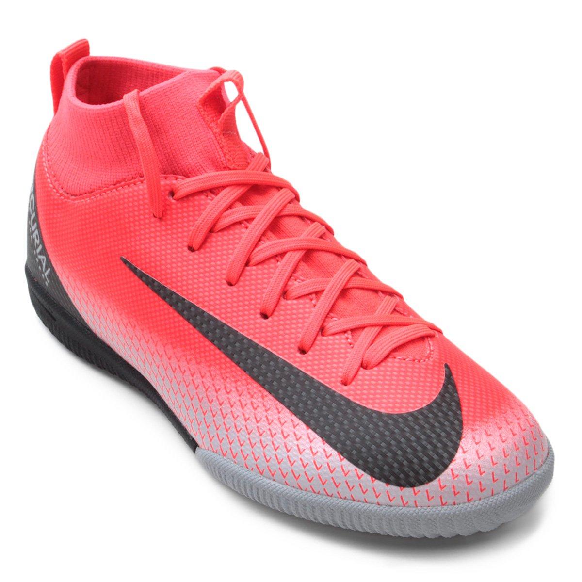 d615c6f46caba Chuteira Futsal Infantil Nike Mercurial Superfly 6 Academy GS CR7 IC -  Preto e Cinza | Shop Timão