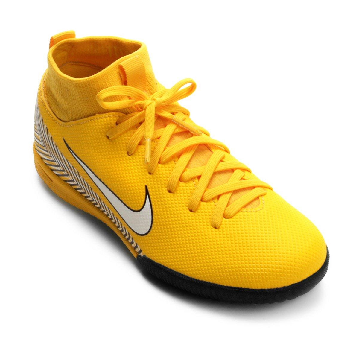 bb44a320b5 Chuteira Futsal Infantil Nike Mercurial Superfly 6 Academy - Amarelo ...