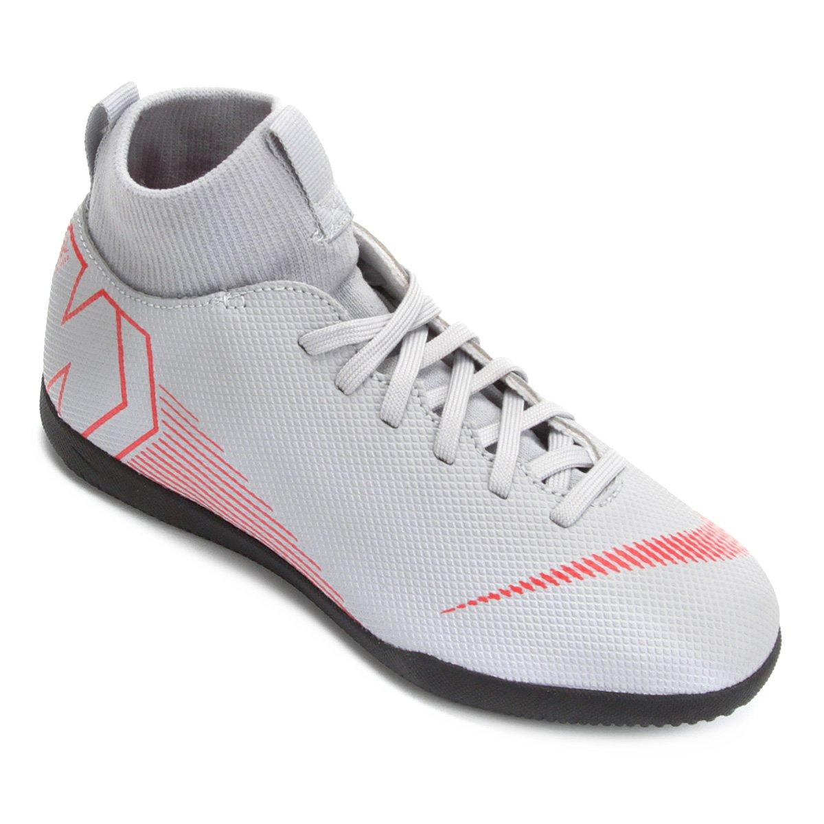 c697163df72 Chuteira Futsal Infantil Nike Mercurial Superfly 6 Club - Cinza e Preto - Compre  Agora