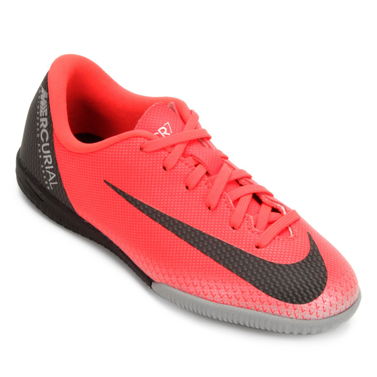 26fef24296267 Chuteira Futsal Infantil Nike Mercurial Vapor 12 Academy GS CR7 IC -  Vermelho e Cinza - Compre Agora