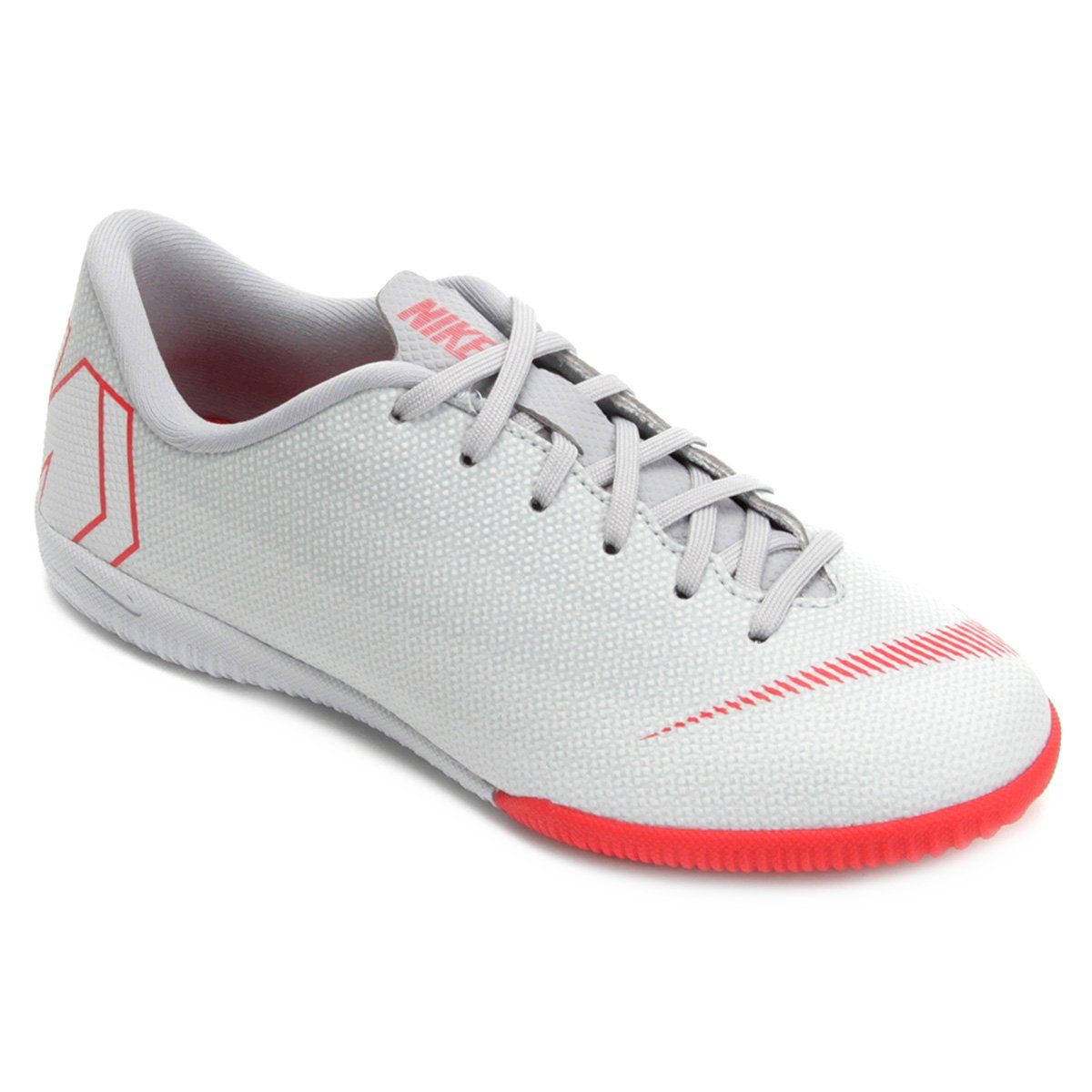 Chuteira Futsal Infantil Nike Mercurial Vapor 12 Academy GS IC - Cinza 5ebeaa077694e