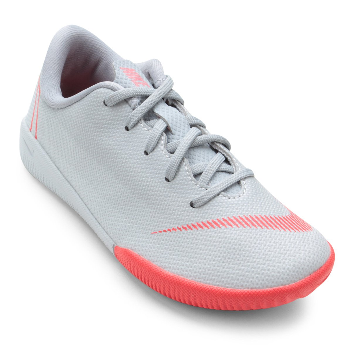 Chuteira Futsal Infantil Nike Mercurial Vapor 12 Academy - Cinza e ... 06de268ecefe1