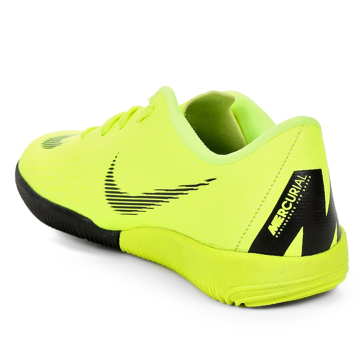 Chuteira Futsal Infantil Nike Mercurial Vapor 12 Academy - Amarelo e ... 82f28fadd47be