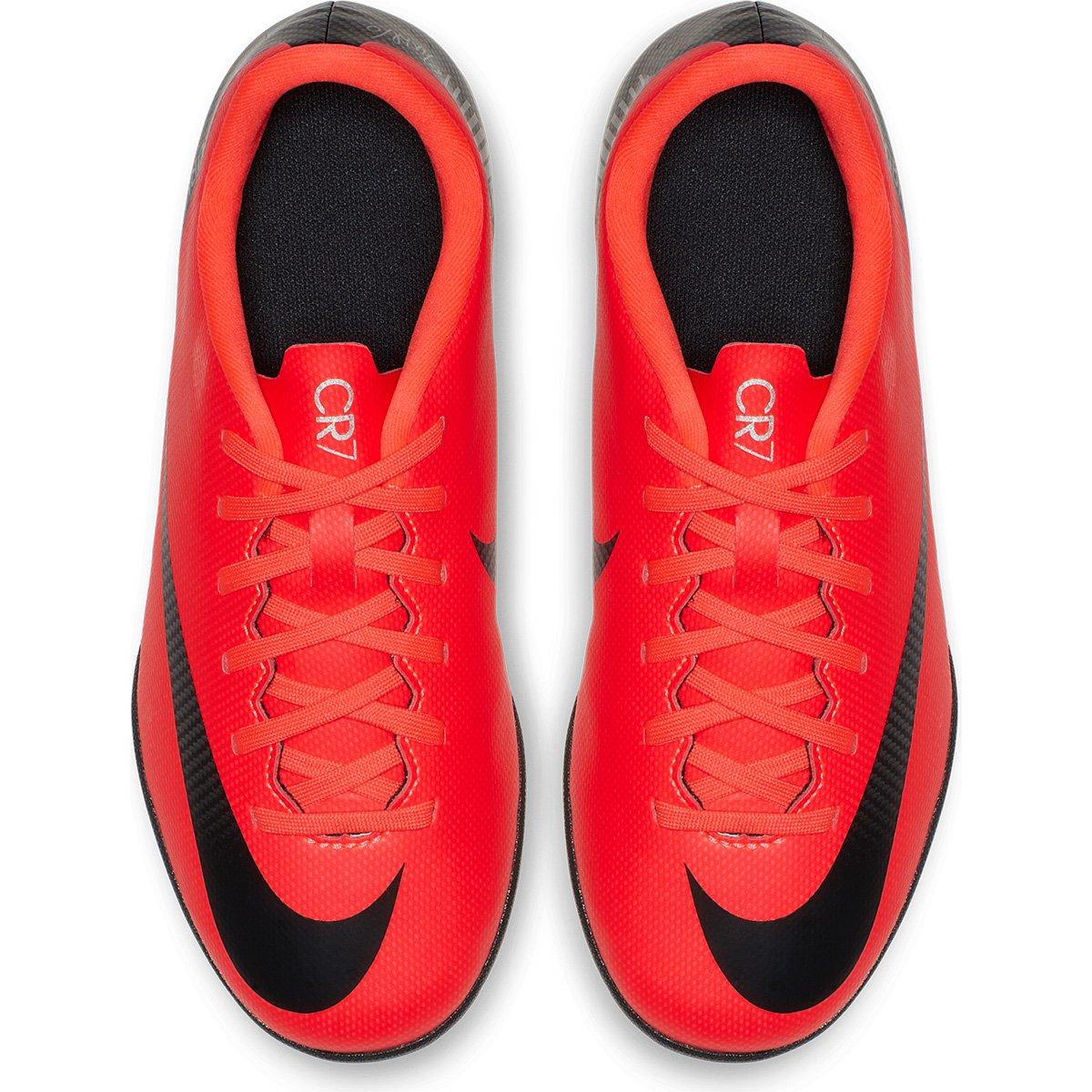 Chuteira Futsal Infantil Nike Mercurial Vapor 12 Club GS CR7 IC ... 9199b60d67ab0
