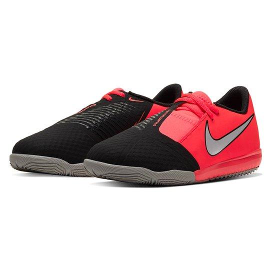 Chuteira Futsal Infantil Nike Phantom JR Academy IC - Vermelho+Preto