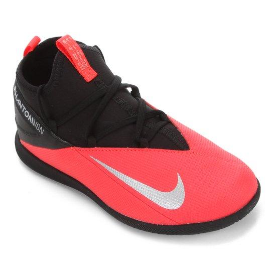 Chuteira Futsal Infantil Nike Phantom Vision 2 Club DF IC - Preto+Prata