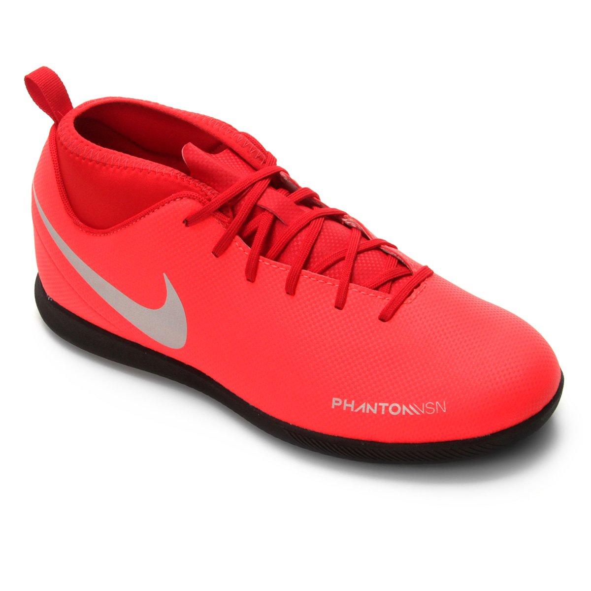 21317ceb3ec9e Chuteira Futsal Infantil Nike Phantom Vision Club DF IC - Vermelho e Prata  | Shop Timão