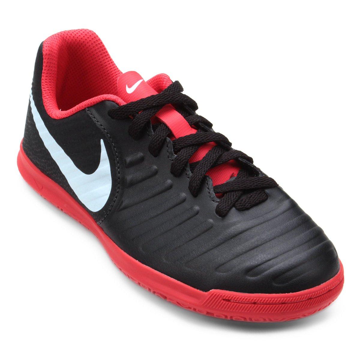 d466d44f07 Chuteira Futsal Infantil Nike Tiempo Legend 7 Club IC - Preto e ...
