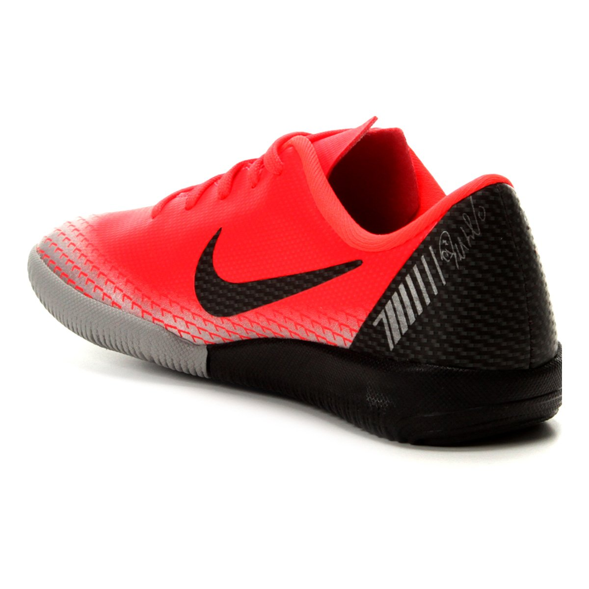 Chuteira Futsal Infantil Nike Vapor 12 Academy OS CR7 IC - Vermelho ... 1f5ab3581239f