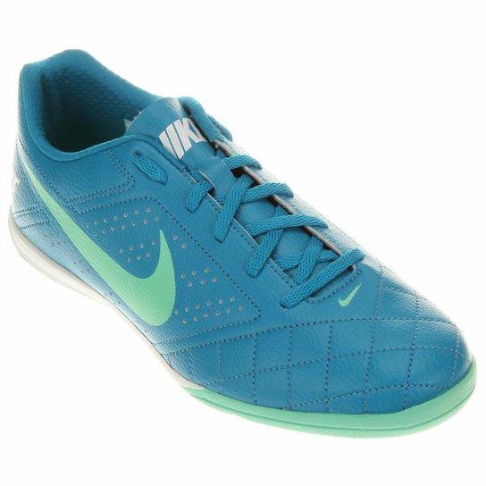 Chuteira Futsal Nike Beco 2 Futsal - Azul+Verde Água