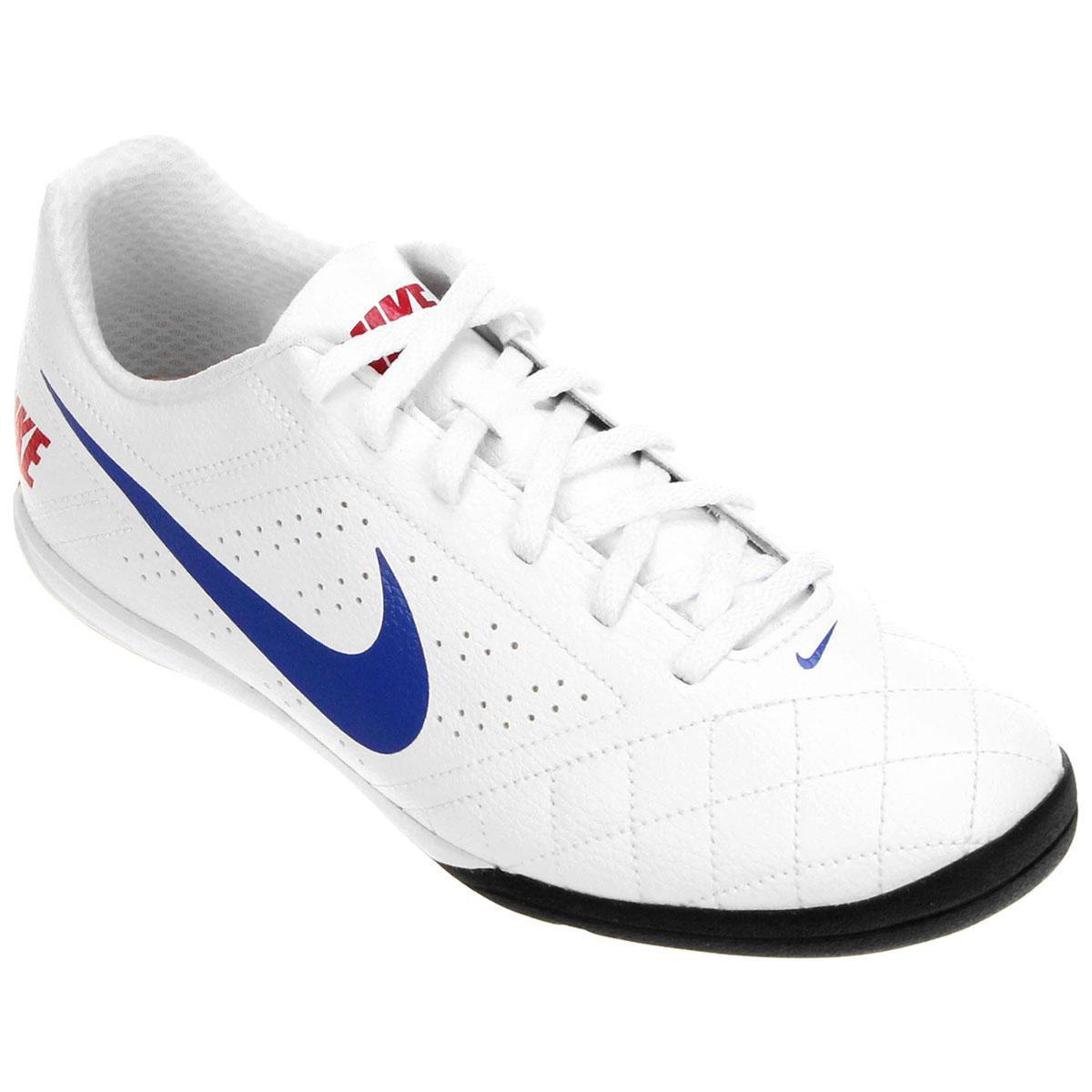 5c97f6fa80 Chuteira Futsal Nike Beco 2 Futsal - Branco e Azul - Compre Agora ...
