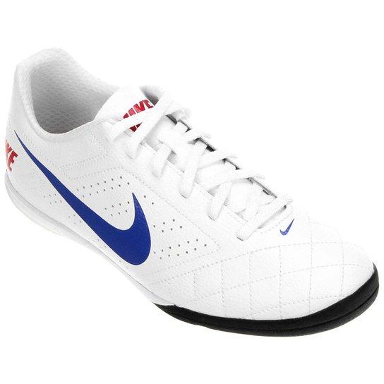 Chuteira Futsal Nike Beco 2 Futsal - Branco+Azul