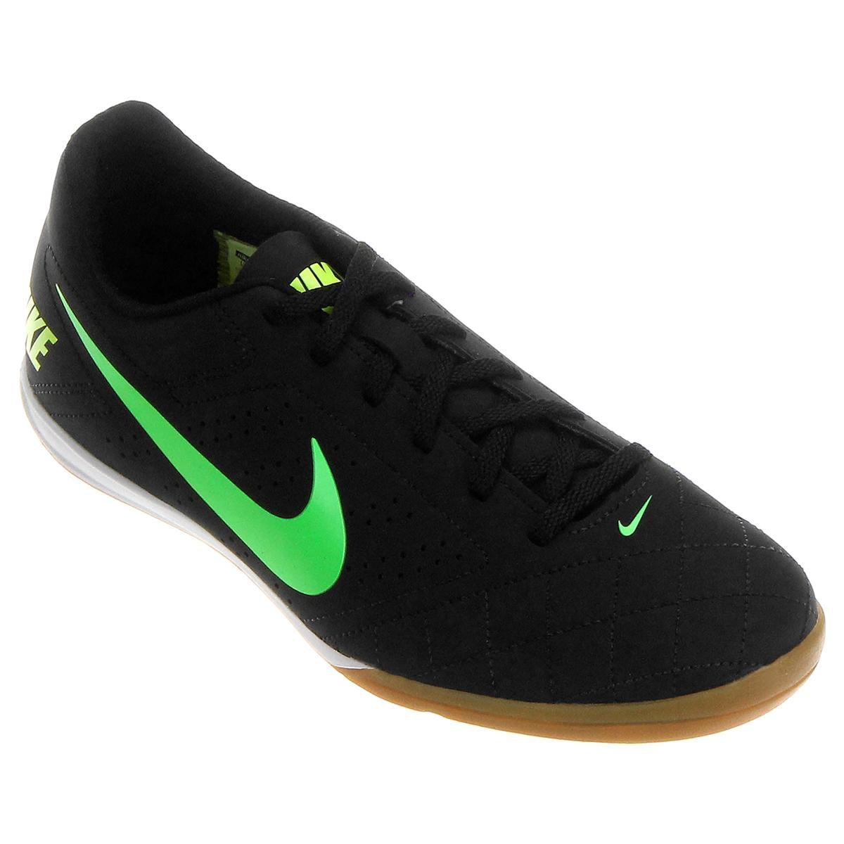 f30256071dd38 Chuteira Futsal Nike Beco 2 Futsal - Preto e Verde Limão - Compre Agora