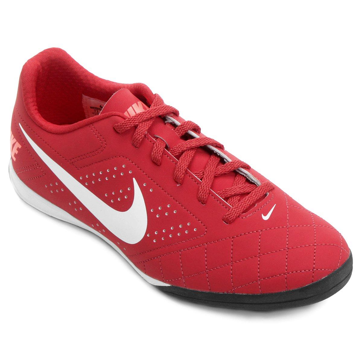 b88795817a Chuteira Futsal Nike Beco 2 Futsal - Vermelho e Branco - Compre Agora