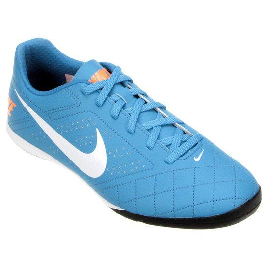 Chuteira Futsal Nike Beco 2 Futsal - Azul+Branco