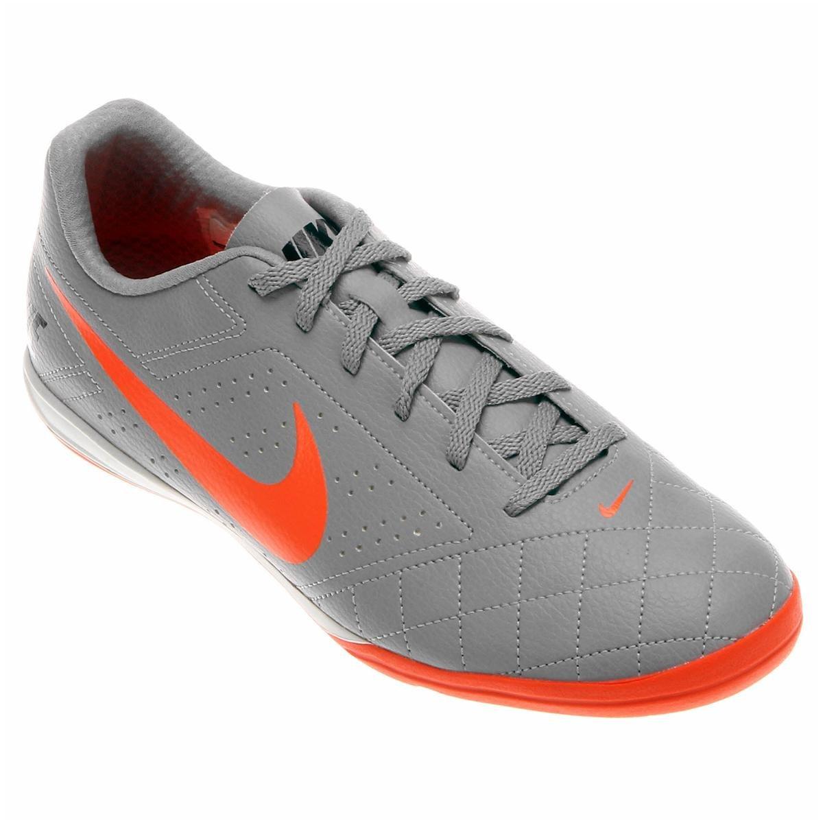 Chuteira Futsal Nike Beco 2 Futsal - Cinza e Laranja - Compre Agora ... 5e0f73ac27c58