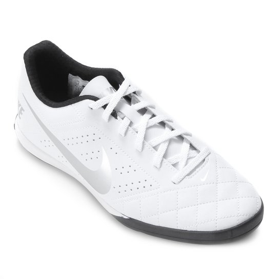 Chuteira Futsal Nike Beco 2 - Branco+prata
