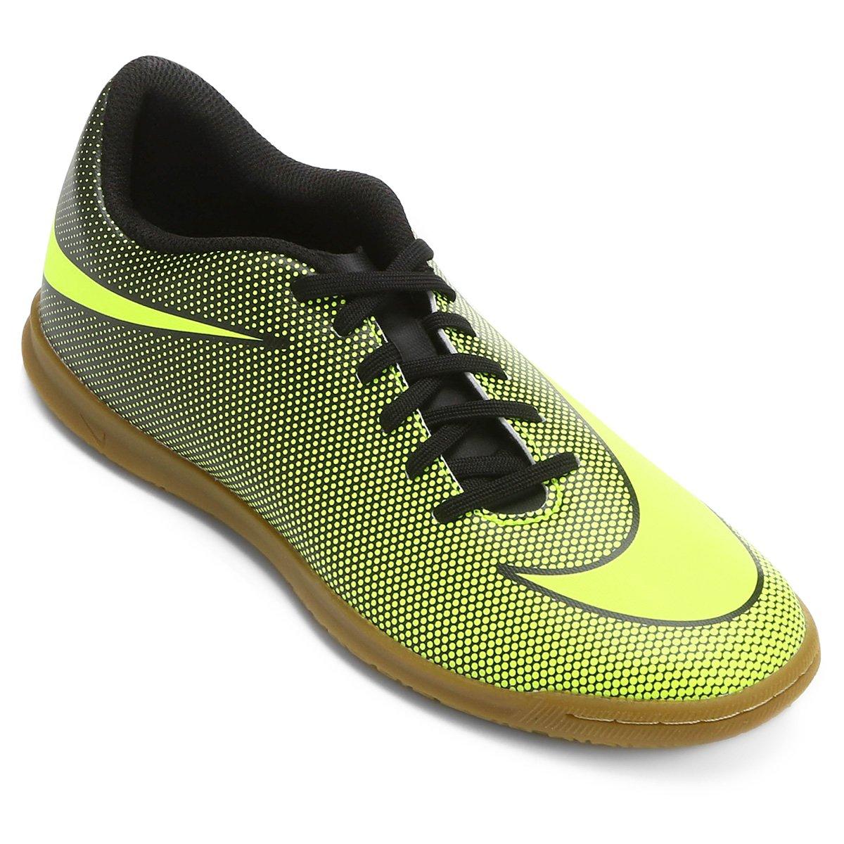 104522eb05 Chuteira Futsal Nike Bravata 2 IC - Preto e Amarelo - Compre Agora ...