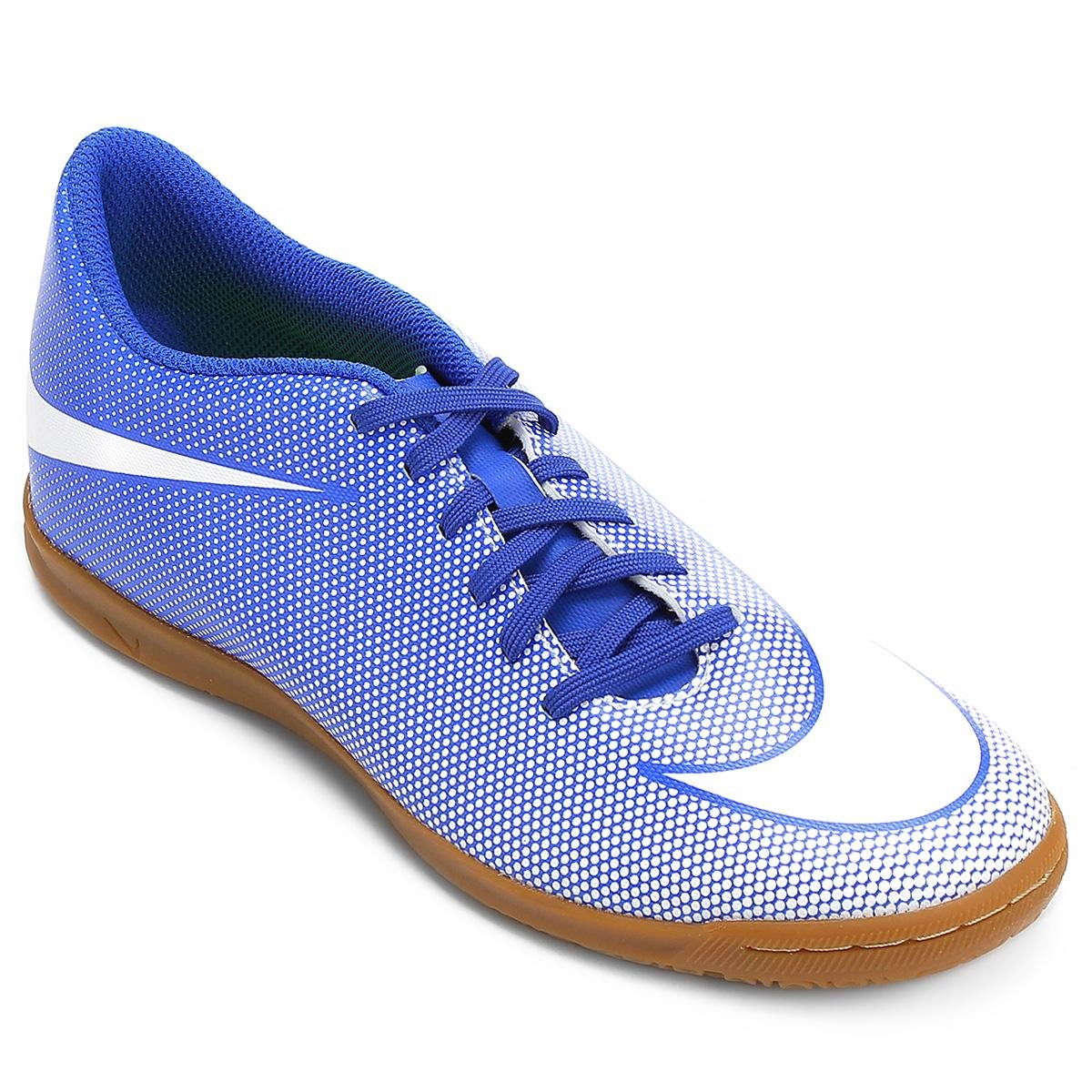 3d8a13d277 Chuteira Futsal Nike Bravata 2 IC - Azul e Branco - Compre Agora ...