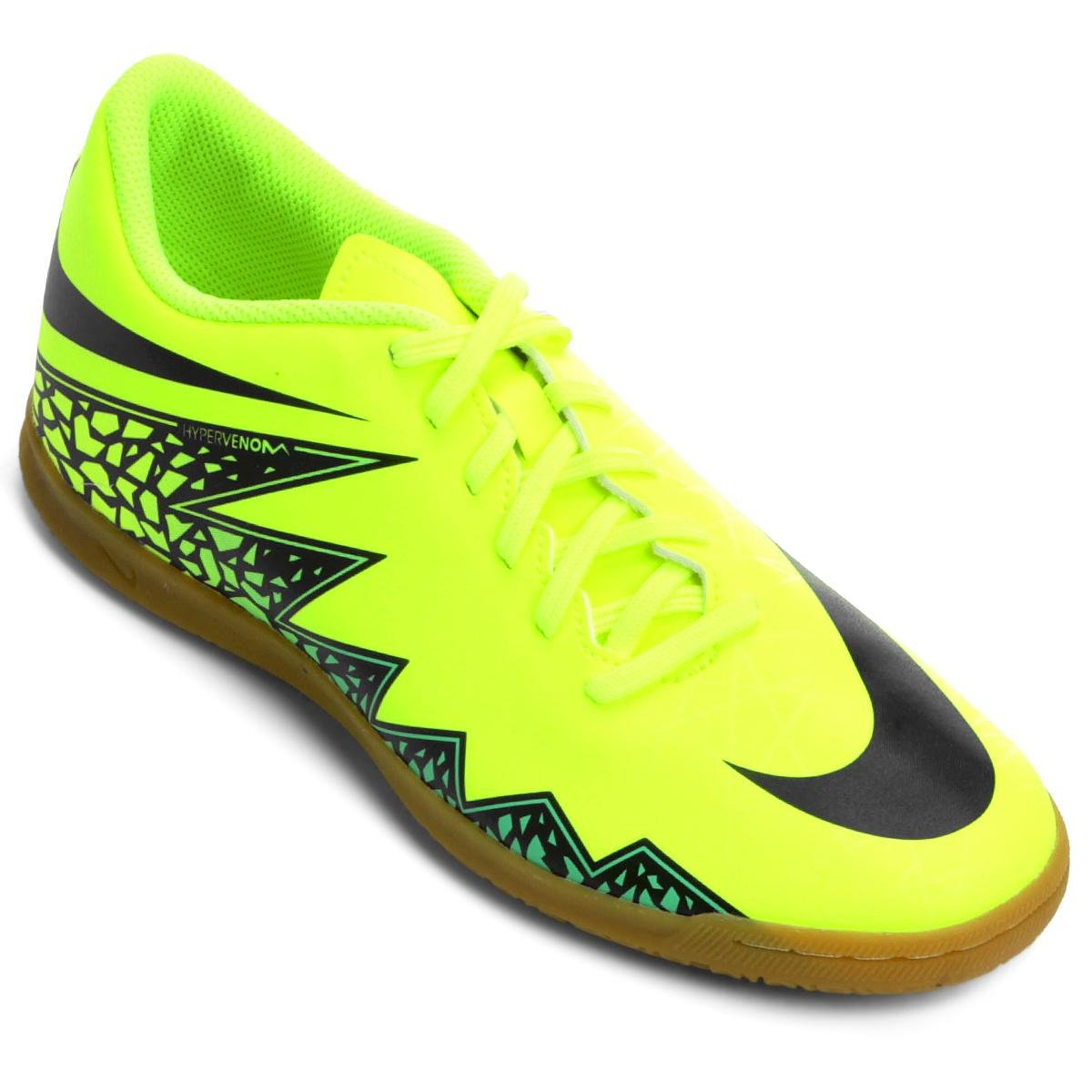 Chuteira Nike Hypervenom Phade 2 IC Futsal Verde Limo e Preto ed189b8297636