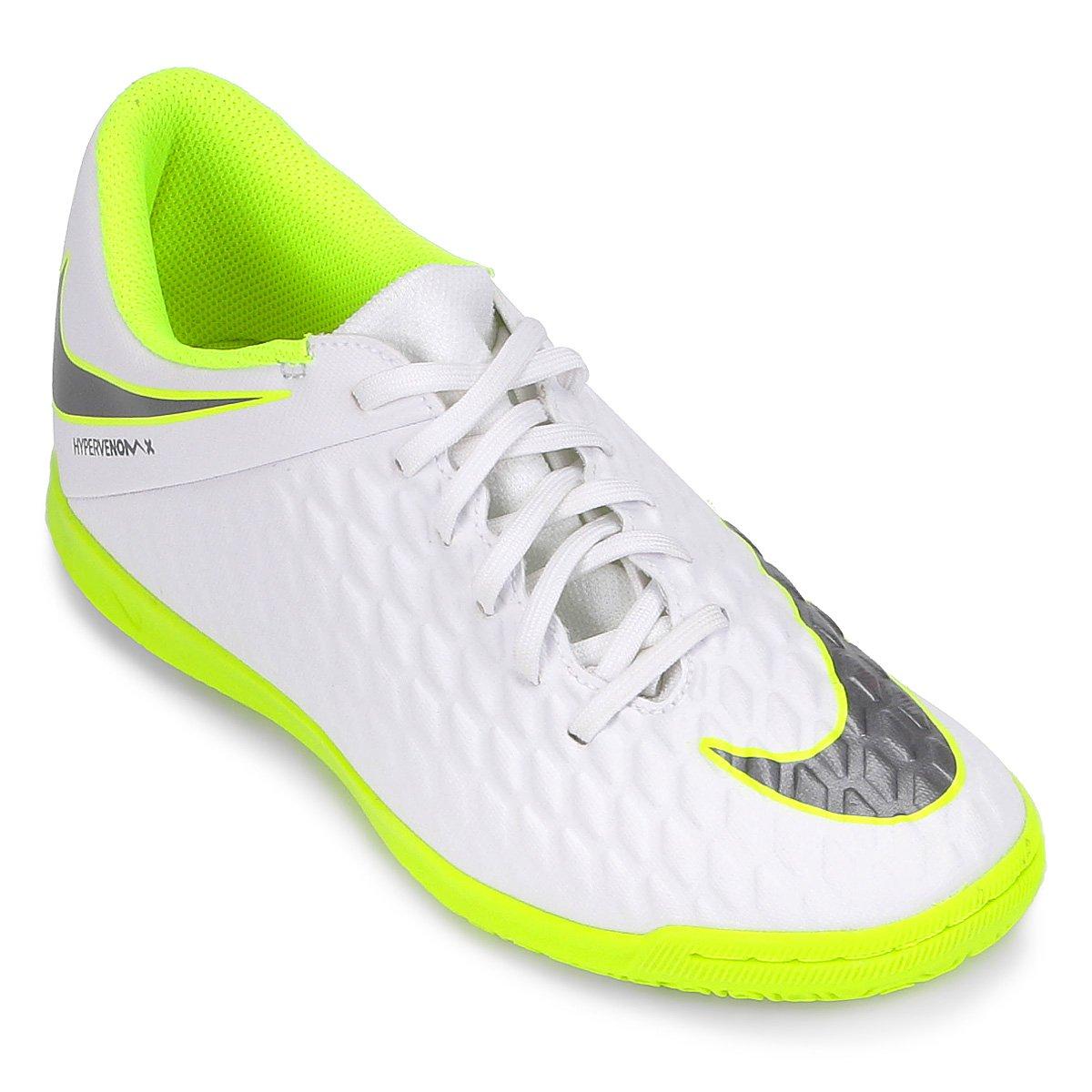 6b8327060d0e3 Chuteira Futsal Nike Hypervenom Phantom 3 Club IC   Shop Timão