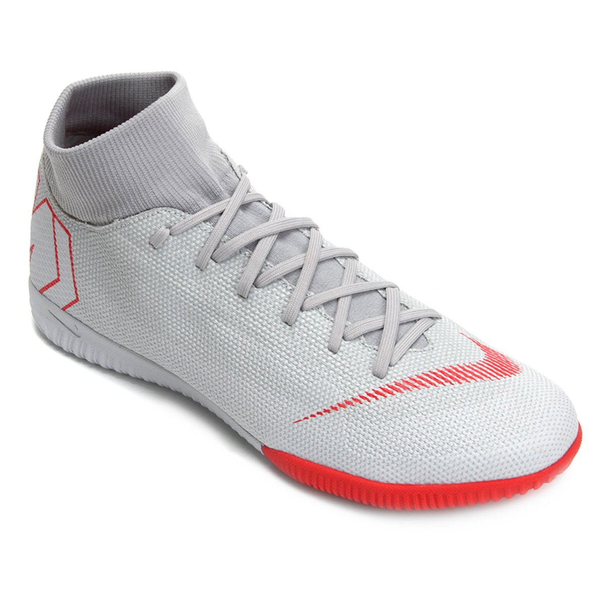 a8041e9ccc Chuteira Futsal Nike Mercurial Superfly 6 Academy - Cinza - Compre ...