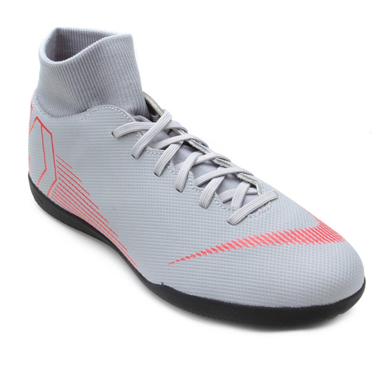 Chuteira Futsal Nike Mercurial Superfly 6 Club - Cinza - Compre ... 68eea0d1e75e5