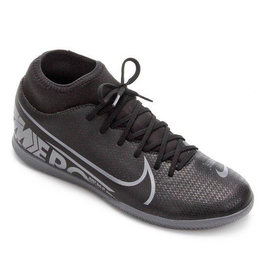 Chuteira Futsal Nike Mercurial Superfly 7 Club IC - Preto+Cinza