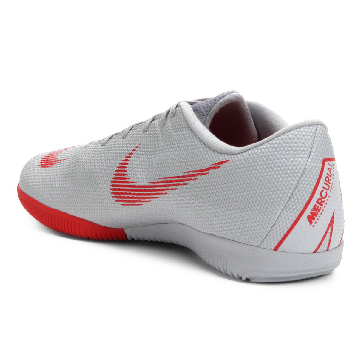 Chuteira Futsal Nike Mercurial Vapor 12 Academy - Cinza - Compre ... d7baed236ecdd