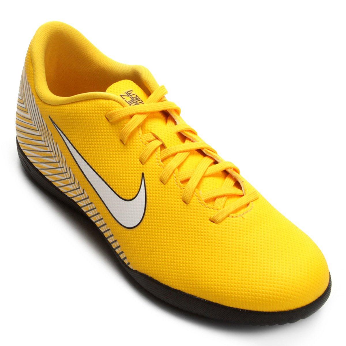6e0849d5b6363 Chuteira Futsal Nike Mercurial Vapor 12 Club Neymar IC - Amarelo e Preto - Compre  Agora