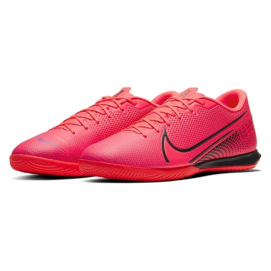 Chuteira Futsal Nike Mercurial Vapor 13 Academy IC - Vermelho+Preto