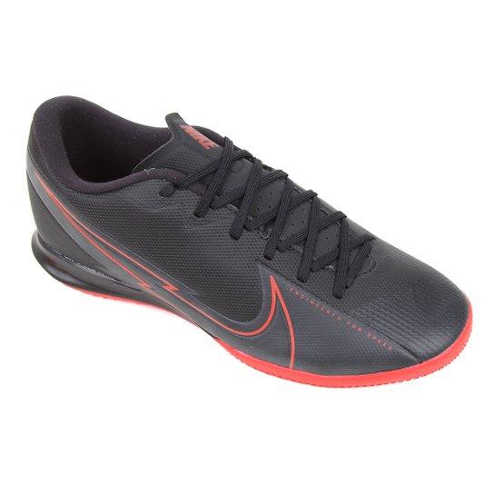 Chuteira Futsal Nike Mercurial Vapor 13 Academy IC - Preto+Cinza