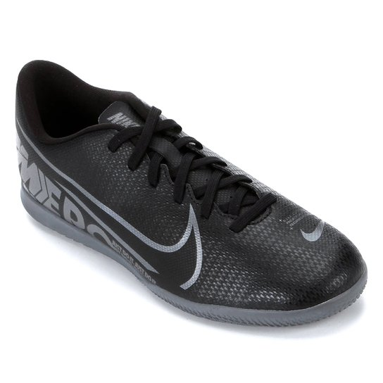 Chuteira Futsal Nike Mercurial Vapor 13 Club IC - Preto+Cinza