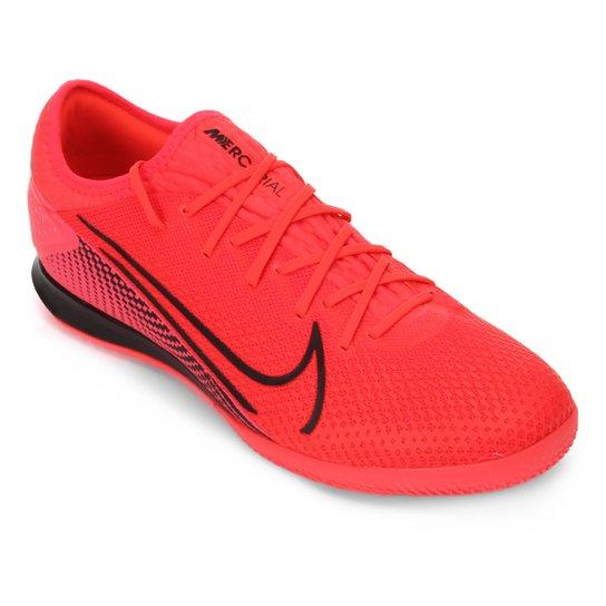 Chuteira Futsal Nike Mercurial Vapor 13 Pro IC - Vermelho+Preto