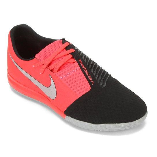 Chuteira Futsal Nike Phantom Venom Academy IC - Vermelho+Prata