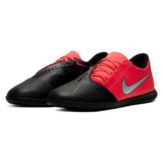 Chuteira Futsal Nike Phantom Venom Club IC - Vermelho+Prata