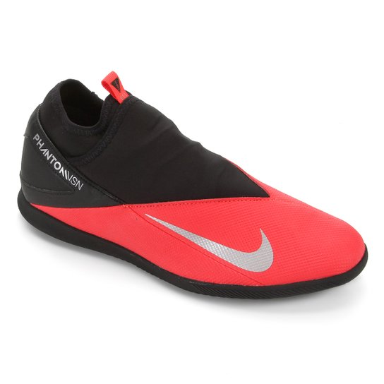 Chuteira Futsal Nike Phantom Vision 2 Club DF IC - Vermelho+Prata