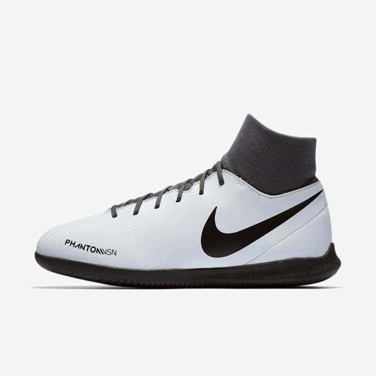 a7c39803b8 Chuteira Futsal Nike Phantom Vision Club DF IC - Cinza - Compre ...