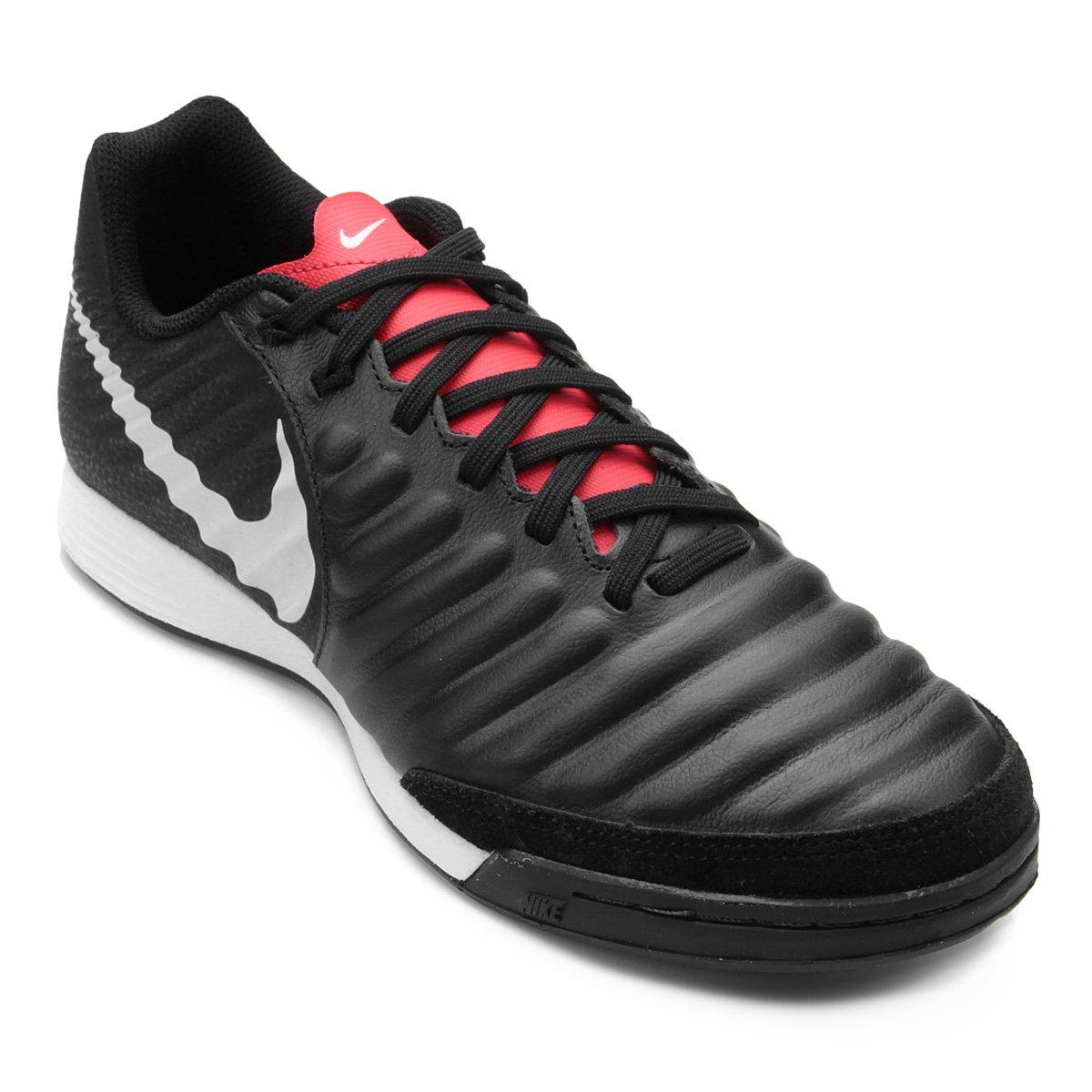 4a7204a91c Chuteira Futsal Nike Tiempo Legend 7 Academy IC - Preto e Cinza ...